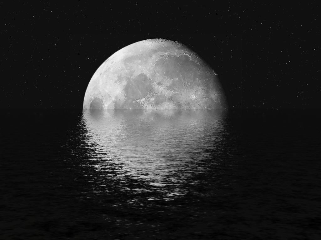 黑色手绘图片月亮